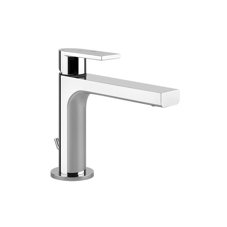 Gessi VIA MANZONI miscelatore lavabo H.15 cm, con scarico e flessibili di collegamento, finitura finox brushed nickel 38602#149