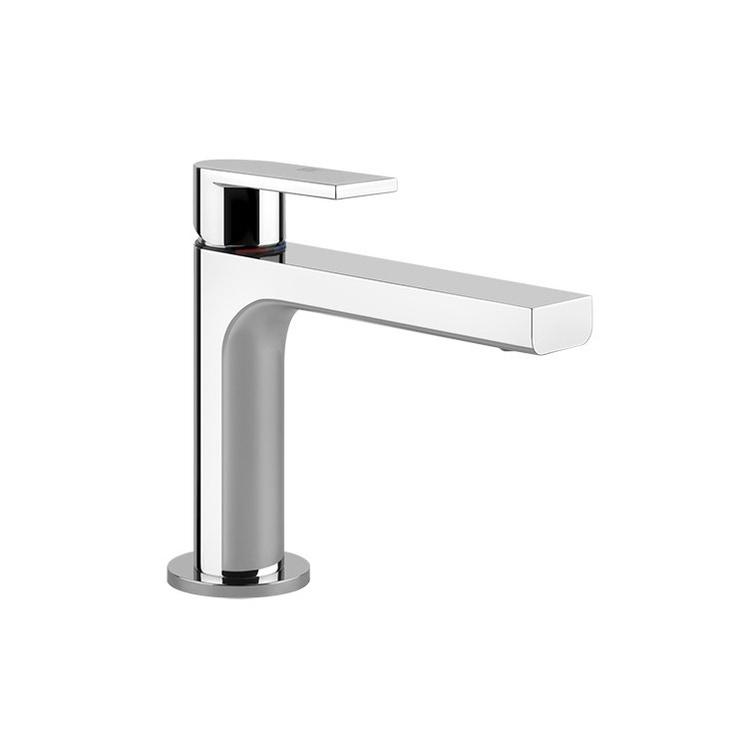 Gessi VIA MANZONI miscelatore lavabo H.15 cm, senza scarico e flessibili di collegamento, finitura finox brushed nickel 38605#149