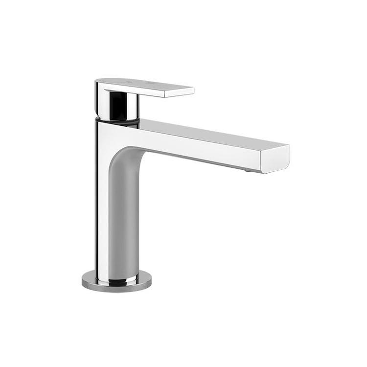 Gessi VIA MANZONI miscelatore lavabo H.15 cm, senza scarico e flessibili di collegamento, finitura finox brushed nickel 38606#149