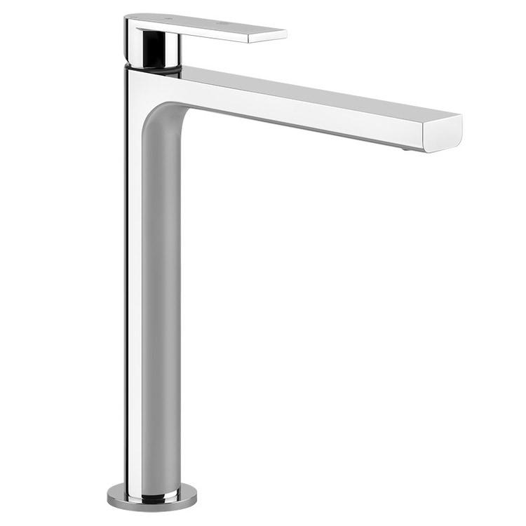 Gessi VIA MANZONI miscelatore lavabo H.30 cm, senza scarico, con flessibili di collegamento, finitura finox brushed nickel 38610#149