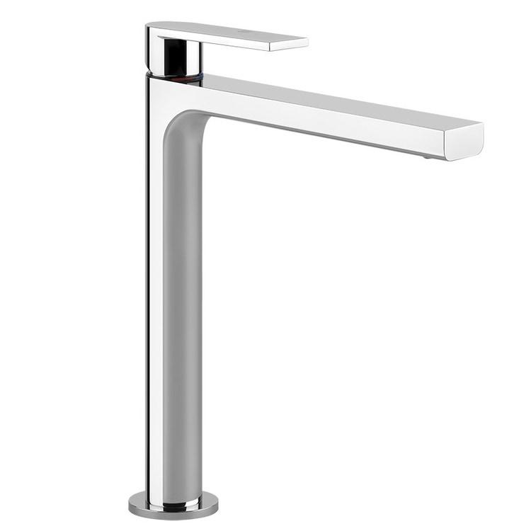 Gessi VIA MANZONI miscelatore lavabo H.30 cm, senza scarico, con flessibili di collegamento, finitura finox brushed nickel 38609#149