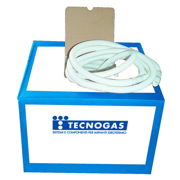 Immagine di Tecnogas Tubo flessibile per scarico condizionatore Ø16-18, polipropilene biestruso, rotolo da 50 Mt. 52009