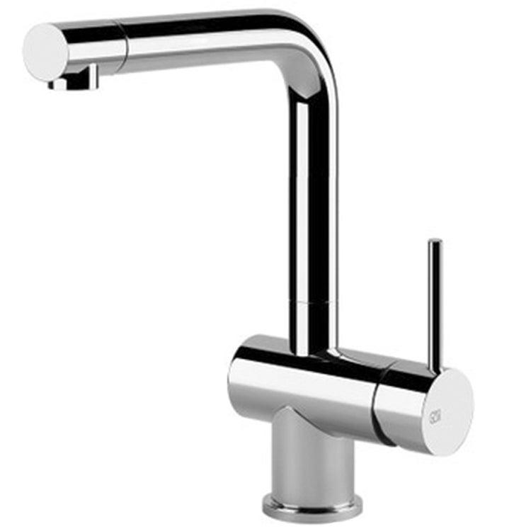 Gessi OXYGENE miscelatore monocomando, con canna girevole e testina orientabile 120°, per lavello, finitura finox 50201#149