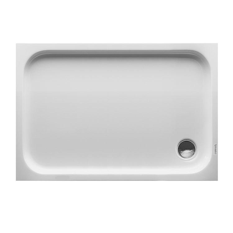 Immagine di Duravit D-CODE piatto doccia di forma rettangolare, L.120 P.80 cm, colore bianco 720113000000000