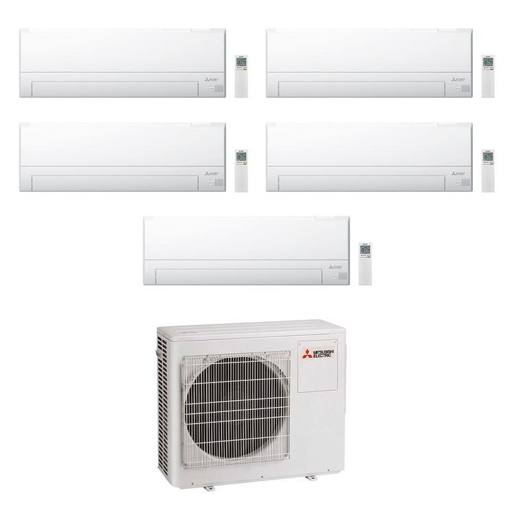 Mitsubishi MSZ-BT R32 Climatizzatore a parete penta split inverter Wi-Fi bianco | unità esterna 10.2 kW unità interne 7000+7000+7000+7000+7000 BTU MXZ-5F102VF+MSZ-BT[20|20|20|20|20]VGK