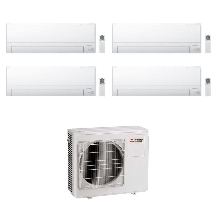 Mitsubishi MSZ-BT R32 Climatizzatore a parete quadri split inverter Wi-Fi bianco | unità esterna 8 kW unità interne 9000+9000+12000+12000 BTU MXZ-4F80VF+MSZ-BT[25|25|35|35]VGK