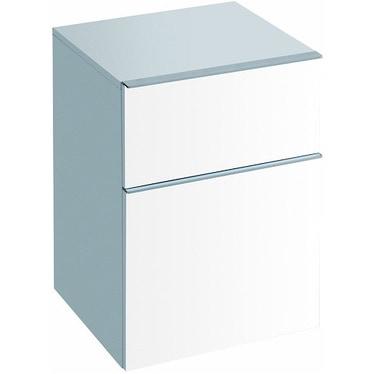 Pozzi Ginori Metrica contenitore sospeso 45 completo di due cassetti, finitura bianco lucido 79801083
