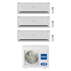 Immagine di Haier TUNDRA PLUS R32 Climatizzatore a parete trial split inverter Wi-Fi bianco | unità esterna 5.5 kW unità interne 7000+7000+7000 BTU 3U55S2SR3FA+AS[20|20|20]TADHRA-2