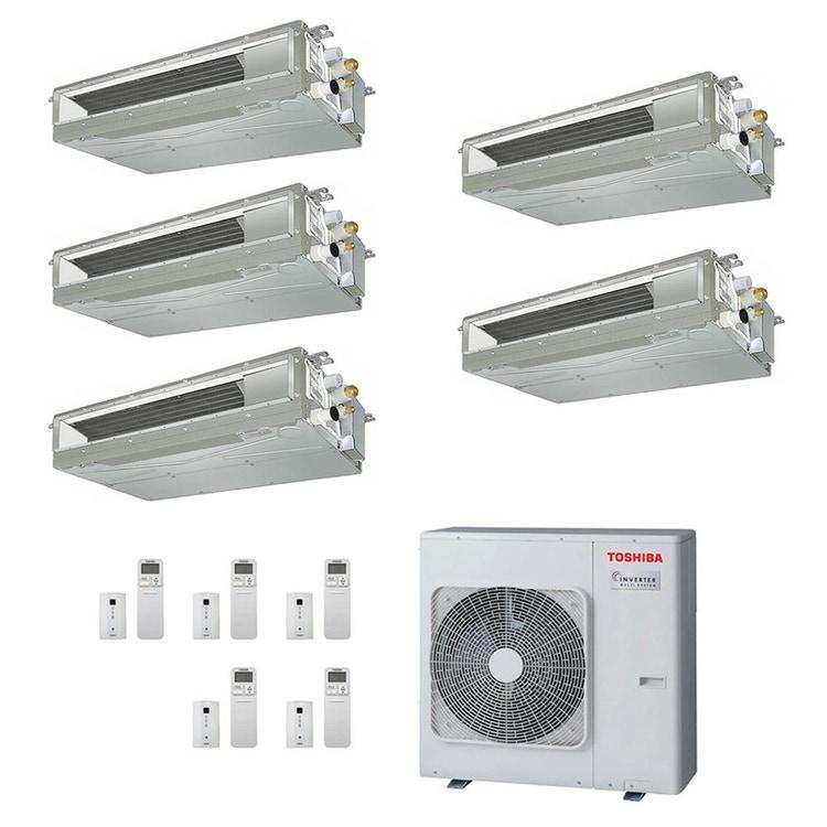 Toshiba CANALIZZABILE R32 Climatizzatore canalizzabile penta split inverter | unità esterna 10 kW unità interne 7000+7000+10000+10000+10000 BTU RAS-5M34U2AVG-E+RAS-M[20|20|25|25|25]U2DVG-E