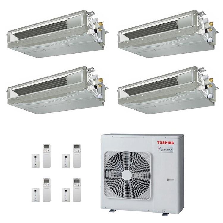 Toshiba CANALIZZABILE R32 Climatizzatore canalizzabile quadri split inverter | unità esterna 8 kW unità interne 10000+10000+13000+13000 BTU RAS-4M27U2AVG-E+RAS-M[25|25|36|36]U2DVG-E