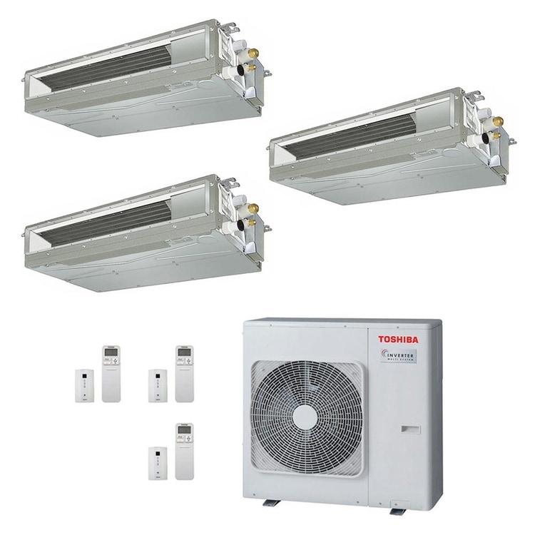 Toshiba CANALIZZABILE R32 Climatizzatore canalizzabile trial split inverter | unità esterna 7.5 kW unità interne 10000+13000+16000 BTU RAS-3M26U2AVG-E+RAS-M[25|36|50]U2DVG-E
