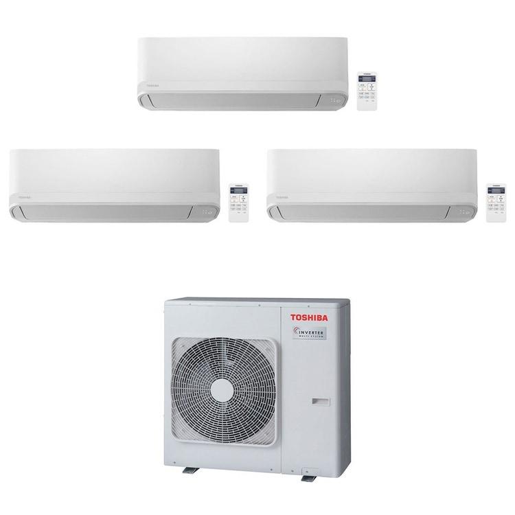 Toshiba SEIYA R32 Climatizzatore a parete trial split inverter bianco | unità esterna 7.5 kW unità interne 10000+16000+16000 BTU RAS-3M26U2AVG-E+RAS-B[25|42|42]J2KVG-E