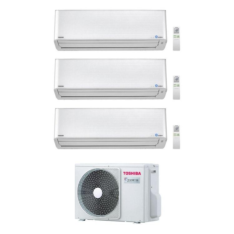 Toshiba SUPER DAISEIKAI 9 R32 Climatizzatore a parete trial split inverter bianco | unità esterna 5.2 kW unità interne 10000+10000+13000 BTU RAS-3M18U2AVG-E+RAS-M[25|25|35]PKVPG-E