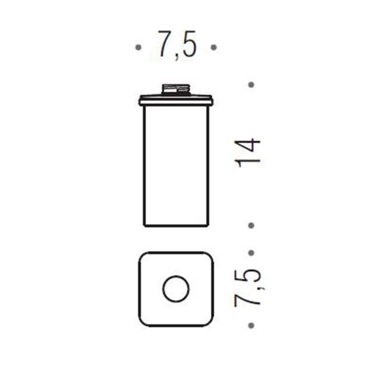 Colombo Design RICAMBIO contenitore per dispenser sapone, finitura oro B93650HPS-VAN