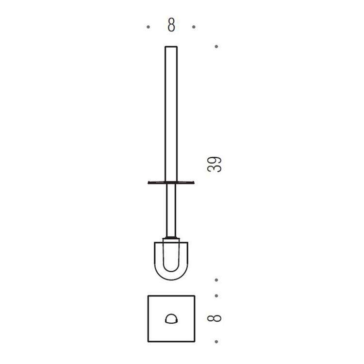Colombo Design RICAMBIO manico con ciuffo, finitura oro B62580HPS-MP