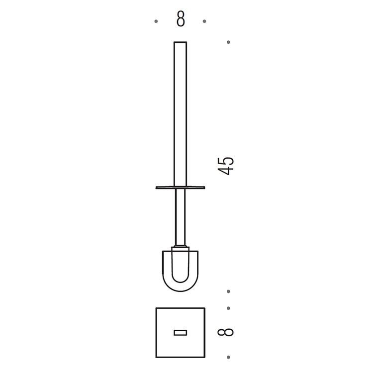Colombo Design RICAMBIO manico con ciuffo, colore grafite finitura opaco B16580GM-MP
