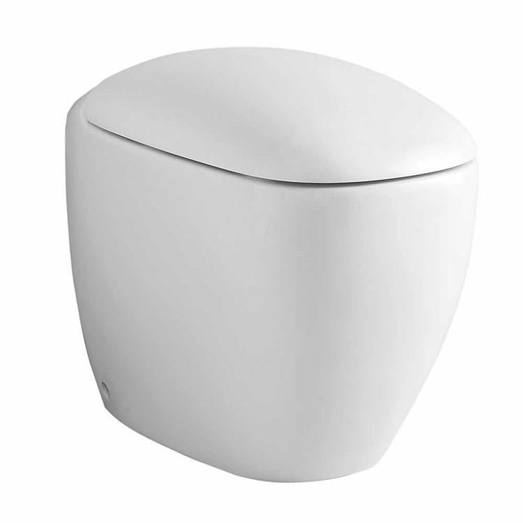 Pozzi Ginori Citterio vaso con scarico multi a parete o a pavimento completo di sedile con chiusura ammortizzata, bianco 75331000