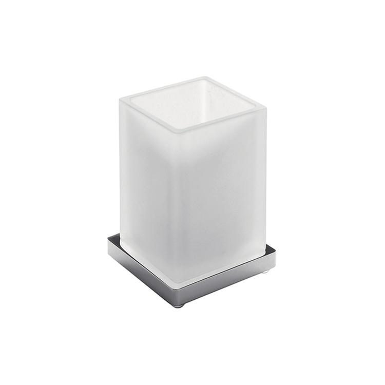 Colombo Design LOOK bicchiere d'appoggio, colore grafite finitura opaco B16410GM-VAN