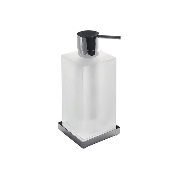 Colombo Design LOOK dispenser sapone liquido d'appoggio, colore grafite finitura opaco B93170GM-VAN