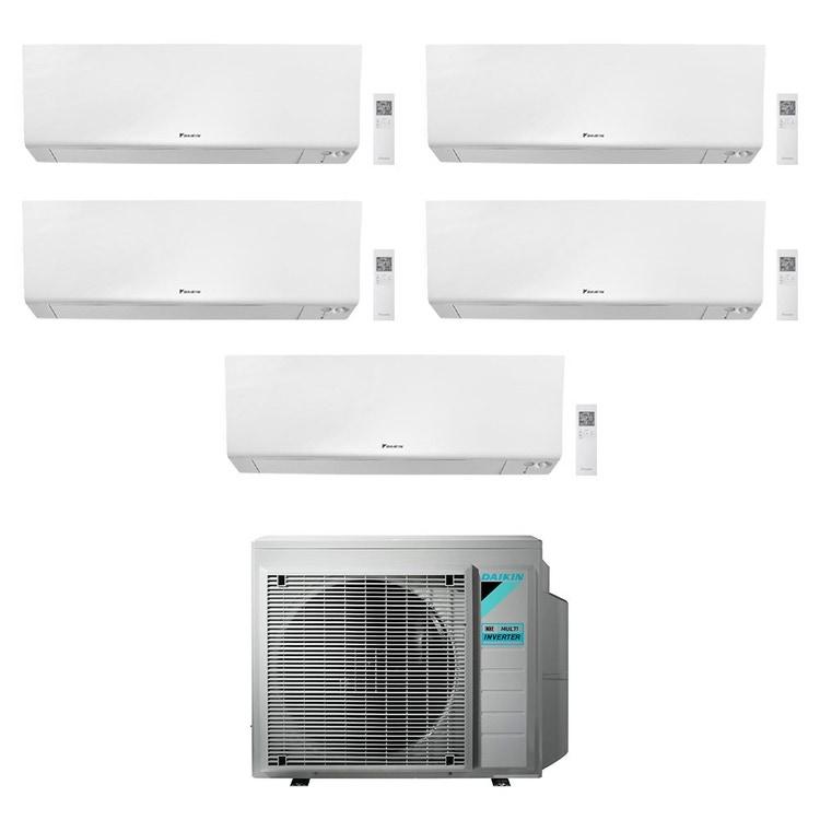 Daikin PERFERA FTXM-R R32 Climatizzatore a parete penta split inverter Wi-Fi bianco | unità esterna 7.8 kW unità interne 7000+7000+9000+12000+15000 BTU 5MXM90N9+FTXM[20|20|25|35|42]R