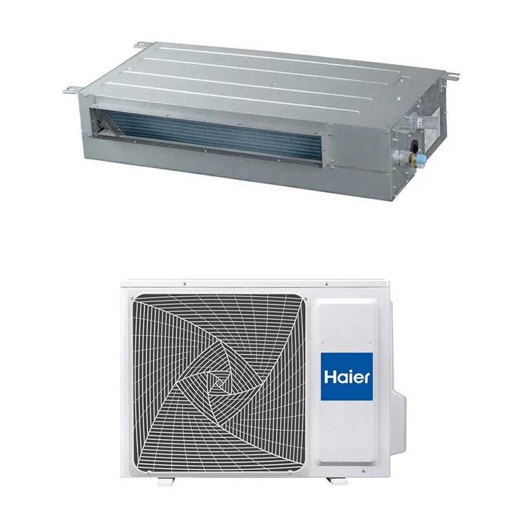 Haier CANALIZZATO SLIM Bassa pressione R32 Climatizzatore canalizzabile monosplit inverter | unità esterna 3.5 kW unità interna 12000 BTU 1U35S2SM1FA+AD35S2SS1FA