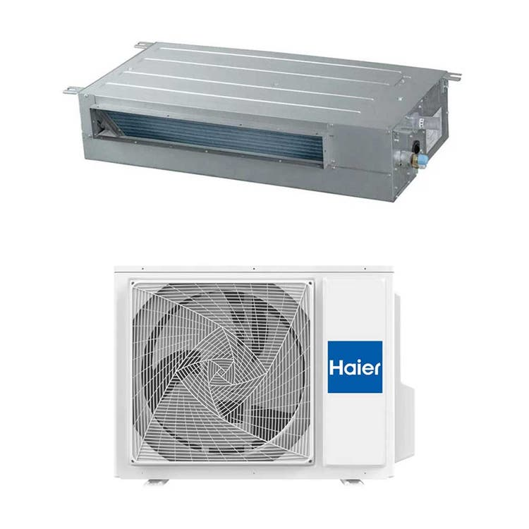 Haier CANALIZZATO SLIM Bassa pressione R32 Climatizzatore canalizzabile monosplit inverter | unità esterna 7.1 kW unità interna 24000 BTU 1U71S2SR2FA+AD71S2SS1FA
