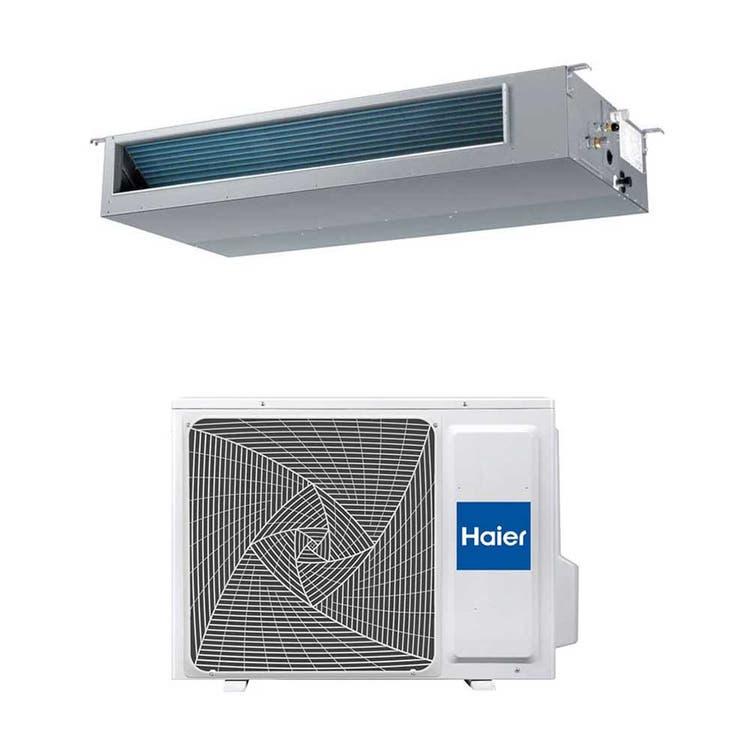 Haier CANALIZZATO Media pressione R32 Climatizzatore canalizzabile monosplit inverter | unità esterna 5 kW unità interna 18000 BTU 1U50S2SJ2FA+AD50S2SM3FA