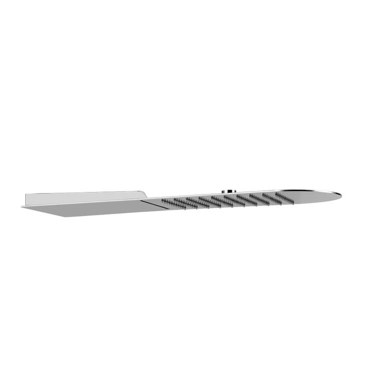 Gessi WELLNESS sistema multifunzione a parete Tondo 200 con funzioni pioggia/cascata, finitura mirror steel 33053#238