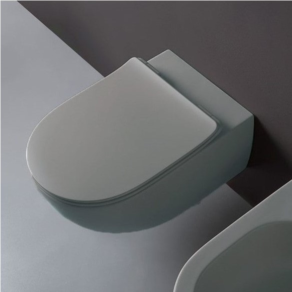 Immagine di Flaminia MINIAPP vaso sospeso con sistema goclean®, colore grigio lava finitura opaco AP119GGLA