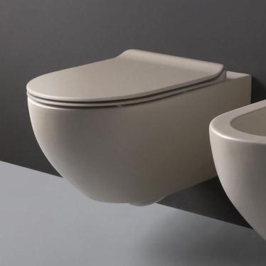 Flaminia APP vaso sospeso con sistema goclean®, colore argilla finitura opaco AP118GARG