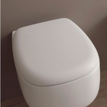 Flaminia BONOLA coprivaso avvolgente in termoindurente, con discesa rallentata, colore bianco latte finitura opaco BNCW03LAT