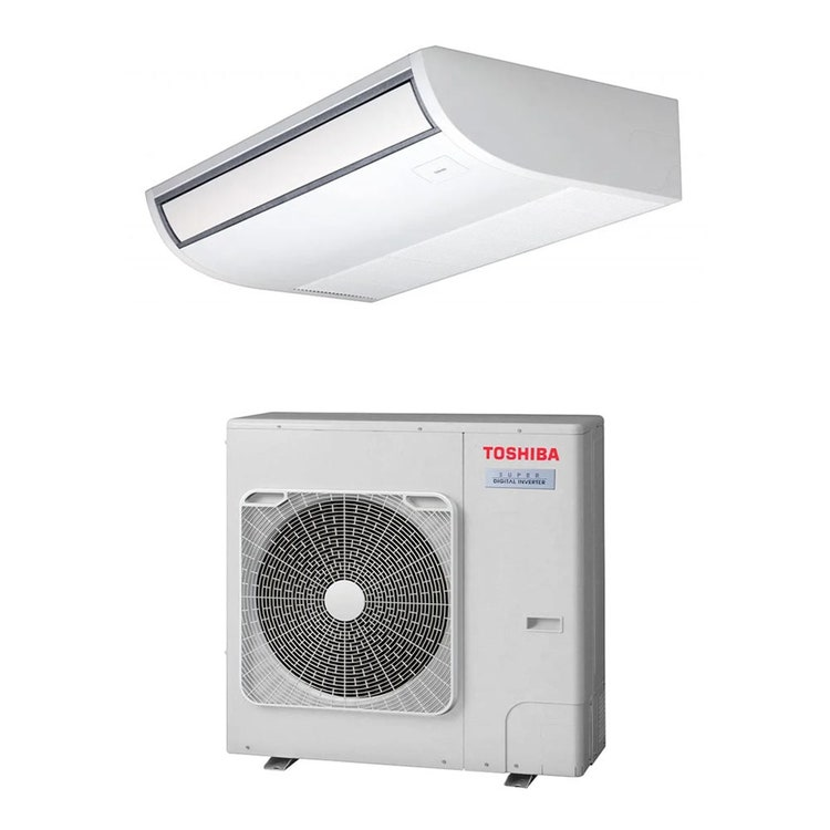 Toshiba SOFFITTO R32 Climatizzatore a soffitto monosplit inverter | unità esterna SUPER DIGITAL INVERTER 7.1 kW unità interna 24000 BTU RAV-GP801AT-E+RAV-RM801CTP-E