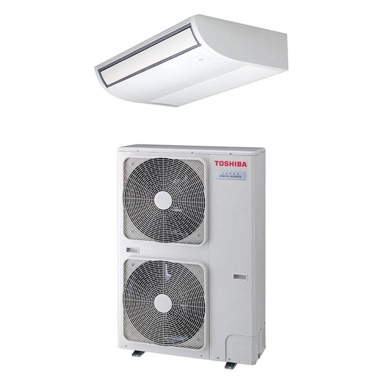 Toshiba SOFFITTO R32 Climatizzatore a soffitto monosplit inverter | unità esterna SUPER DIGITAL INVERTER 14 kW trifase unità interna 48000 BTU RAV-GP1601AT8-E+RAV-RM1601CTP-E