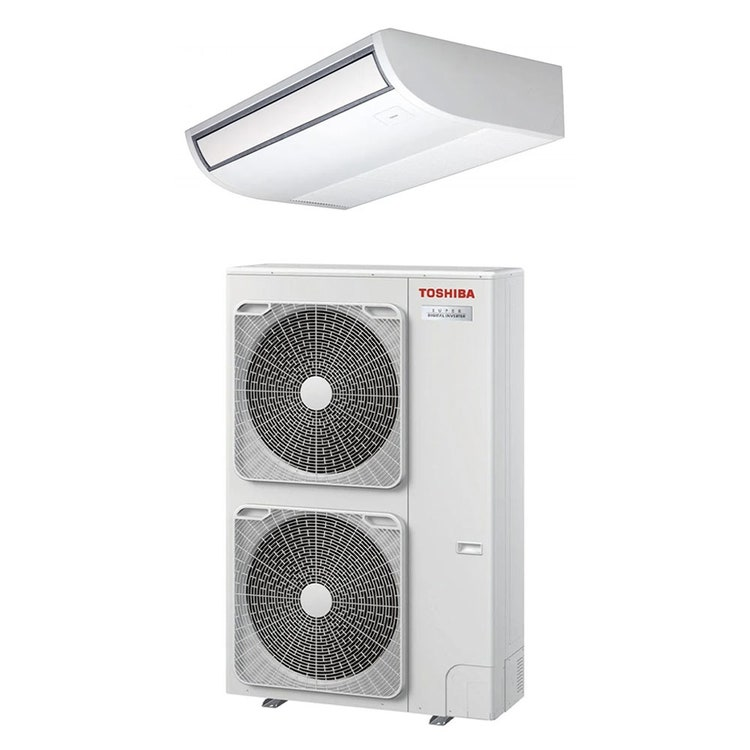 Toshiba SOFFITTO R32 Climatizzatore a soffitto monosplit inverter | unità esterna SUPER DIGITAL INVERTER 10 kW unità interna 35000 BTU RAV-GP1101AT-E+RAV-RM1101CTP-E