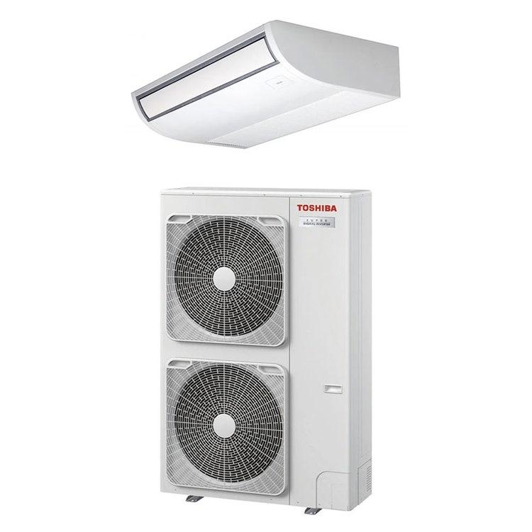 Toshiba SOFFITTO R32 Climatizzatore a soffitto monosplit inverter | unità esterna SUPER DIGITAL INVERTER 12.5 kW unità interna 43000 BTU RAV-GP1401AT-E+RAV-RM1401CTP-E