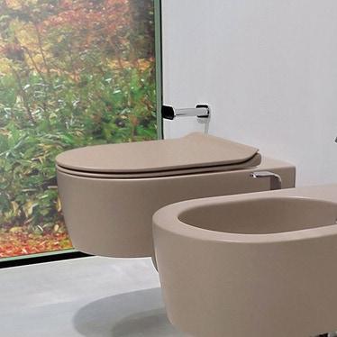 Flaminia LINK vaso sospeso con sistema goclean®, colore argilla finitura opaco 5051/WCGARG