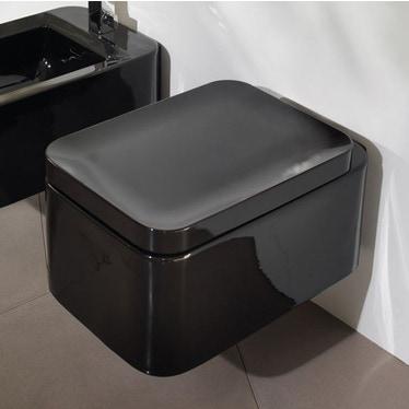 Flaminia NILE vaso sospeso con sistema goclean®, colore nero finitura lucido NL118GNE