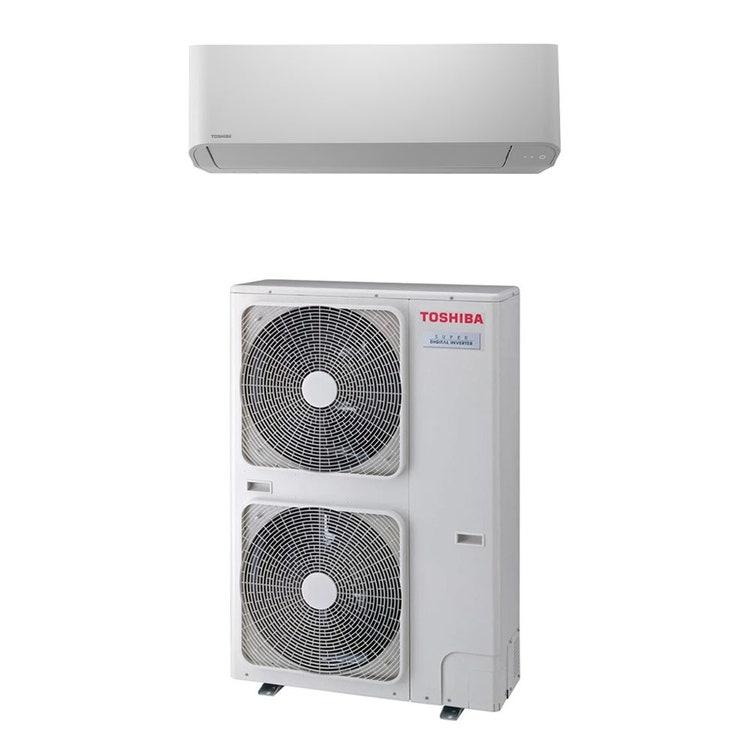 Toshiba PARETE R32 Climatizzatore a parete monosplit inverter   unità esterna SUPER DIGITAL INVERTER 10 kW trifase unità interna 35000 BTU RAV-GP1101AT8-E+RAV-GM1101KRTP-E