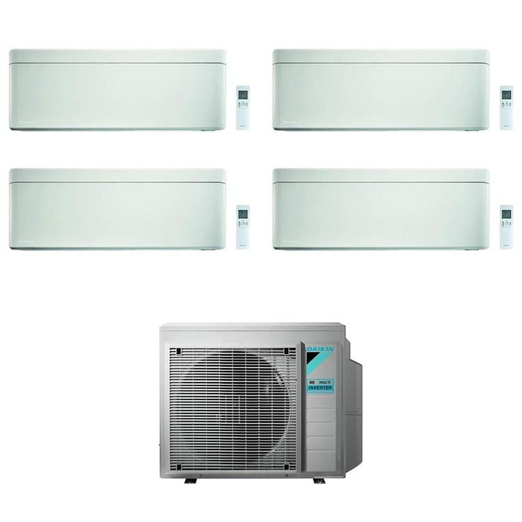 Daikin STYLISH R32 Climatizzatore a parete quadri split inverter Wi-Fi bianco | unità esterna 7.4 kW unità interne 5000+5000+5000+5000 BTU 4MXM80N9+CTXA[15|15|15|15]AW