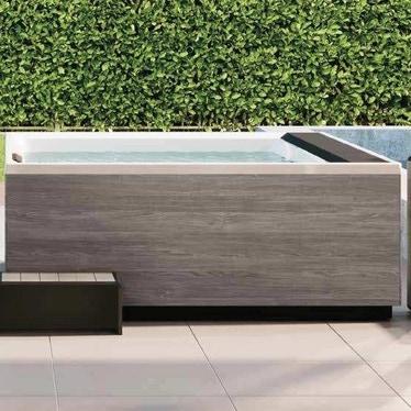 Novellini Pannello natural touch per vasca idromassaggio Divina M, finitura oak concrete PANV2F2LDIVDO-P2
