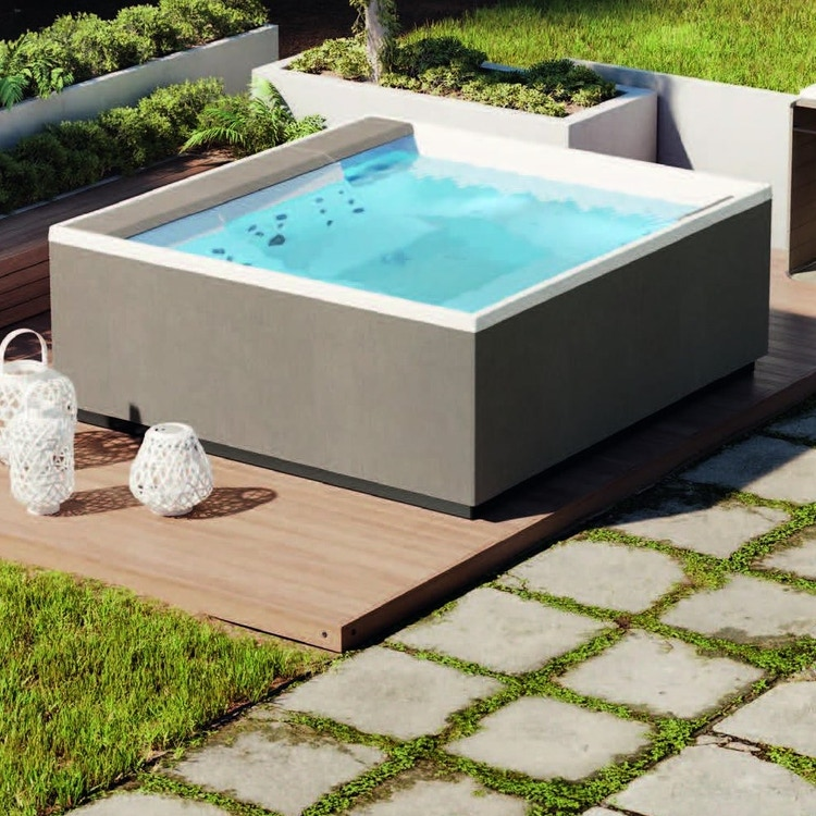 Novellini Pannello natural touch per vasca idromassaggio Divina M, finitura quarz PANV2F2LDIVDO-P4