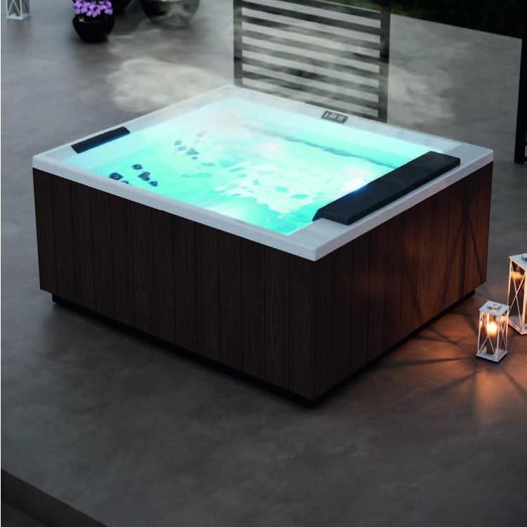 Novellini Pannello natural touch per vasca idromassaggio Divina XL, finitura wenge PADV2F2LDIVDX-D1
