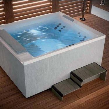 Novellini Pannello natural touch per vasca idromassaggio Divina XL, finitura light grey PATV2F2LDIVDX-T1