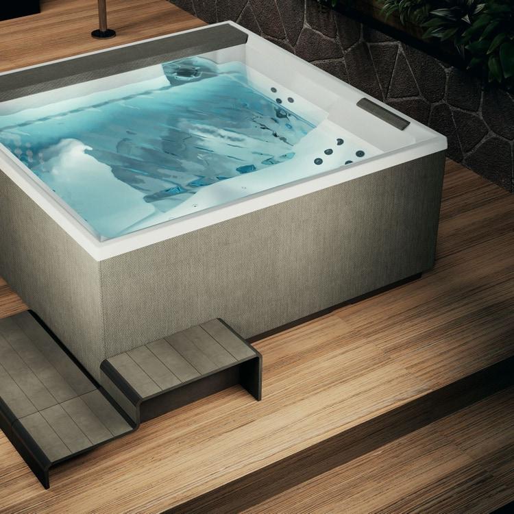Novellini Pannello natural touch per vasca idromassaggio Divina XL, finitura warm brown PATV2F2LDIVDX-T2