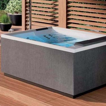 Novellini Pannello natural touch per vasca idromassaggio Divina XL, finitura steel PATV2F2LDIVDX-T3