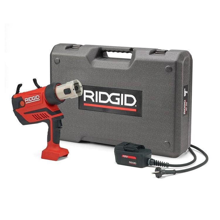 Immagine di Ridgid RP 350-C Pressatrice a pistola a cavo senza ganasce con adattatore per alimentazione 220 V (con cavo da 5 m) e cassetta di trasporto 67123