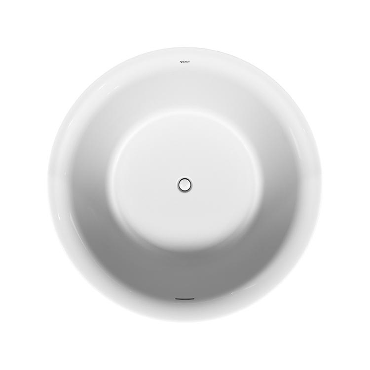 Duravit WHITE TULIP vasca freestanding Ø 140 cm, con colonna di scarico speciale, colore bianco 700470000000000