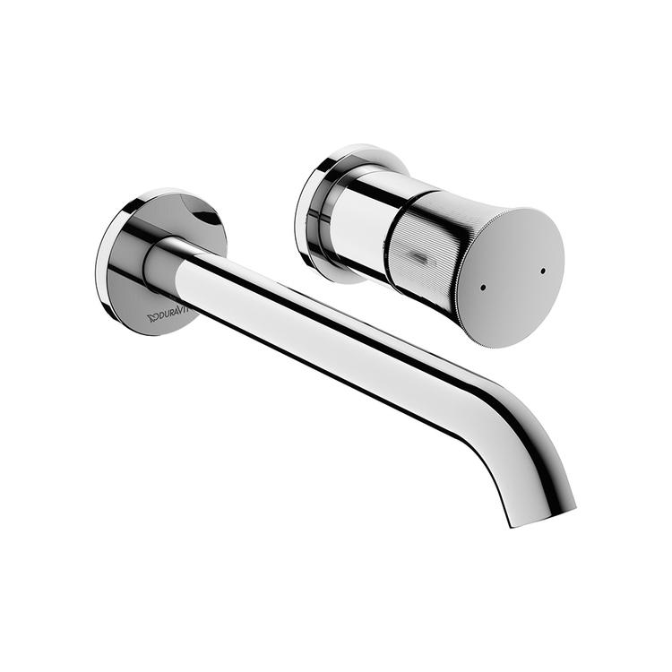 Duravit WHITE TULIP miscelatore monocomando per lavabo a parete, corpo incasso da ordinare separatamente, finitura cromo WT1070004010