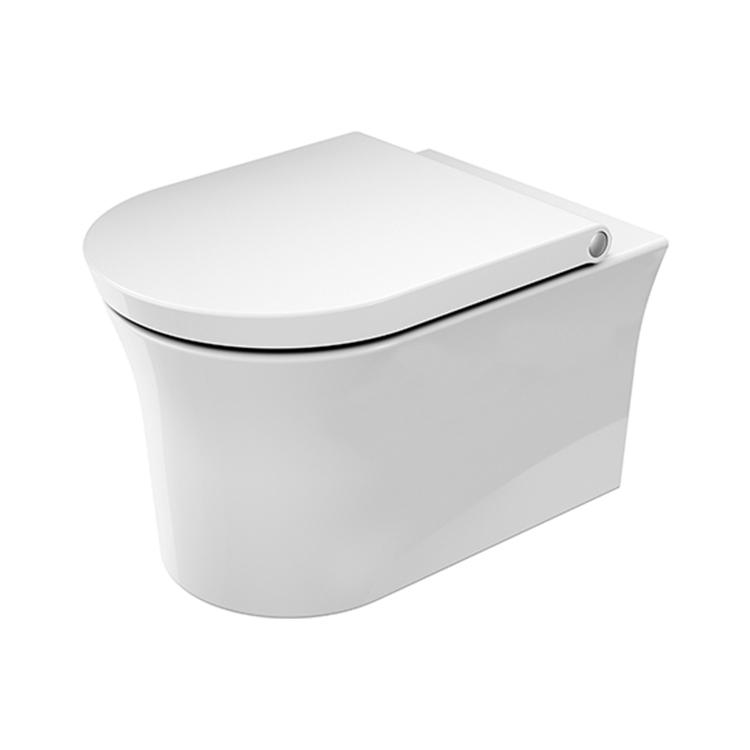 Duravit WHITE TULIP vaso sospeso HygieneFlush, senza brida, con flusso di acqua circolare, senza sedile, UWL classe 1, Hygieneglaze, colore bianco 2576092000