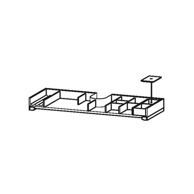 Duravit Dotazione interna in legno massello, per elementi di larghezza 984 mm, finitura acero UV98637878